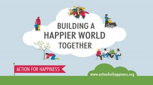 Action for happiness logo, happy