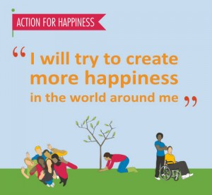 Action for happiness, quote, happy