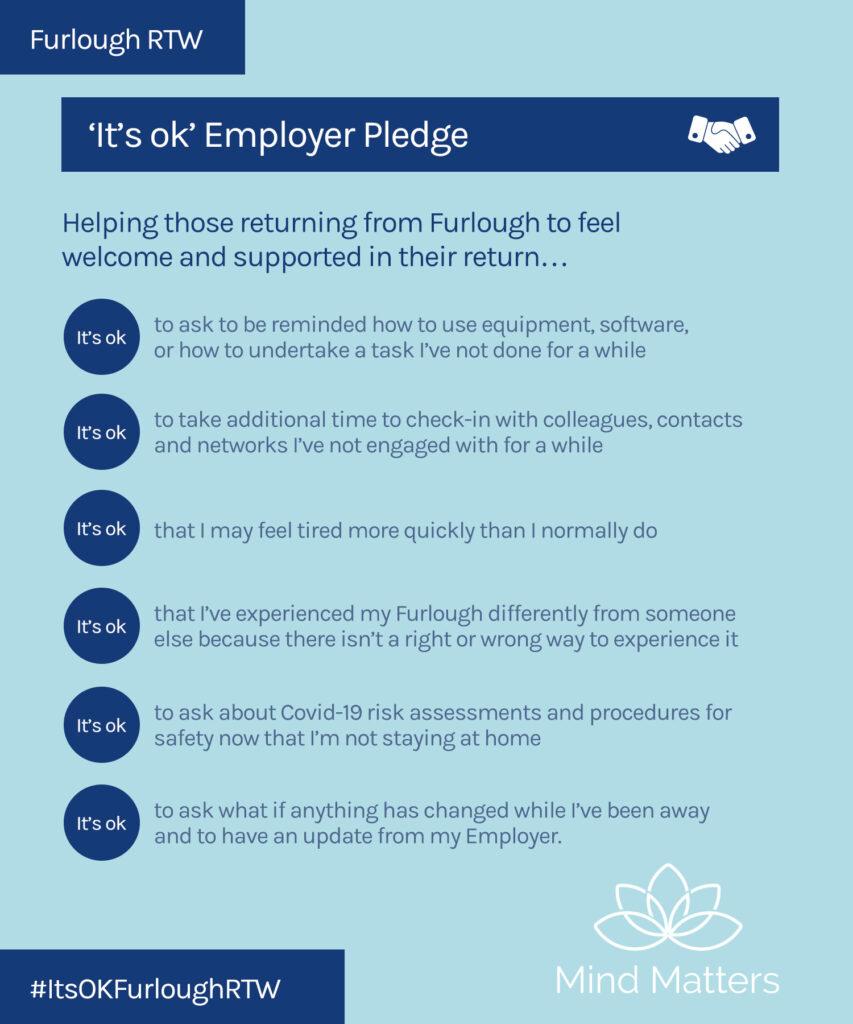 RTW; furlough, return to work; pledge, its ok